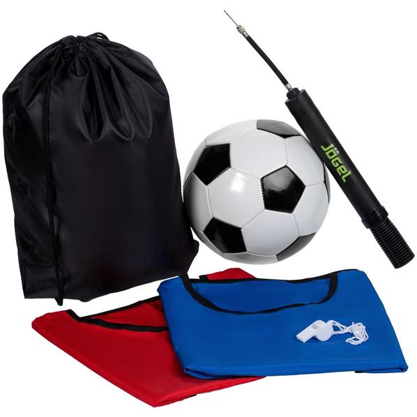 Набор для игры в футбол On The Field: 2 манишки, свисток, футбольный мяч, насос, разноцветный - фото № 1