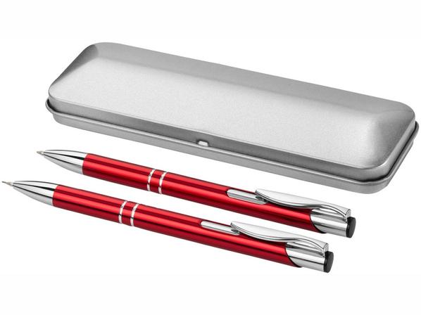 Набор подарочный Dublin: ручка шариковая, карандаш механический, красный - фото № 1