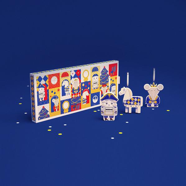 Набор из 3 игрушек в пенале v.2.0: «Щелкунчик», «Лошадка», «Мышиный король», разноцветный - фото № 1