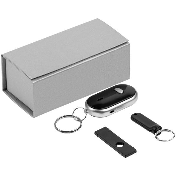 Набор Geek Pick: магнитный блокиратор камеры ноутбука Shutoff, брелок для поиска ключей Signalet, черный / серебристый - фото № 1