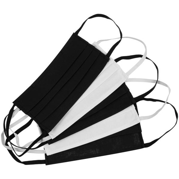 Набор гигиенических масок Respire, 5 шт., белый/ черный - фото № 1