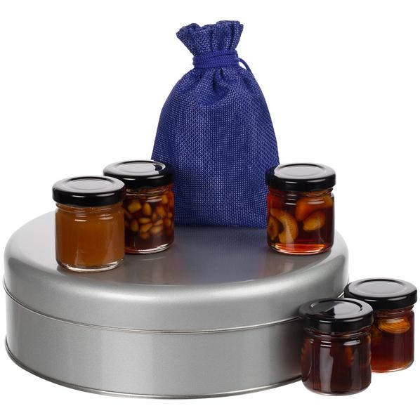 Набор Honey Taster: мёд и чай, коричневый / синий - фото № 1
