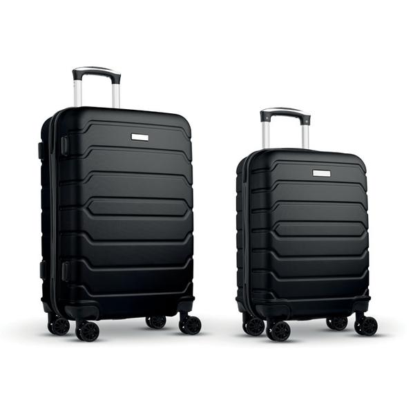 Набор из 2 чемоданов из ABS, черные - фото № 1