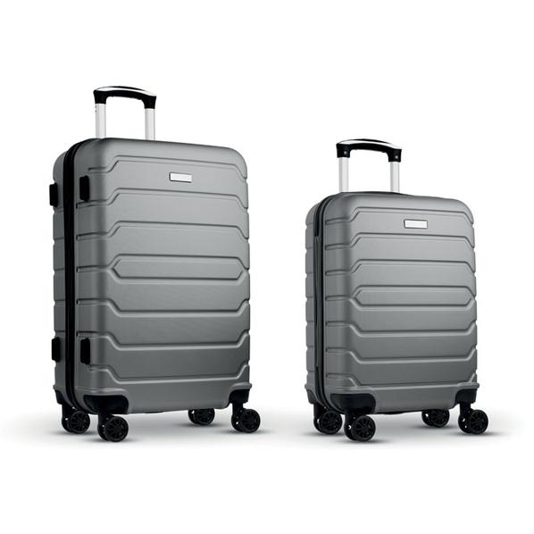 Набор из 2 чемоданов из ABS, темно-серые - фото № 1