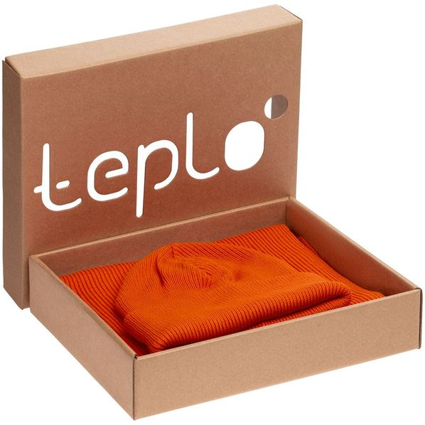 Набор teplo Life Explorer: шапка, шарф, оранжевый - фото № 1