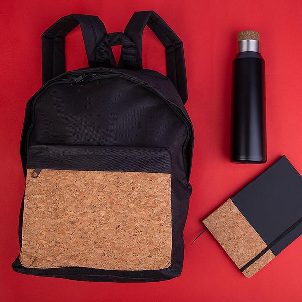 Набор подарочный Blackwood: рюкзак, блокнот, бутылка для воды, черный / коричневый - фото № 1