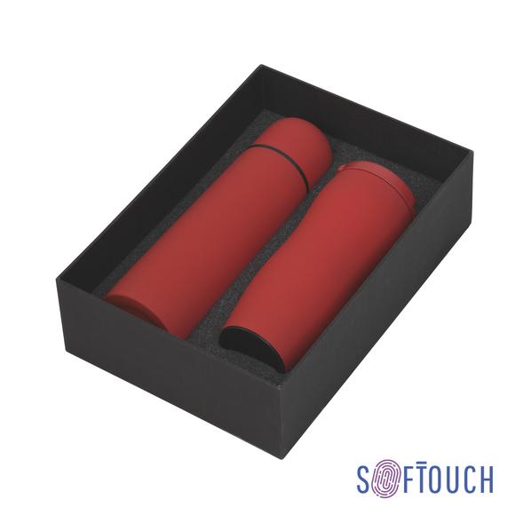 Набор подарочный Грация: термос и термостакан, красный - фото № 1