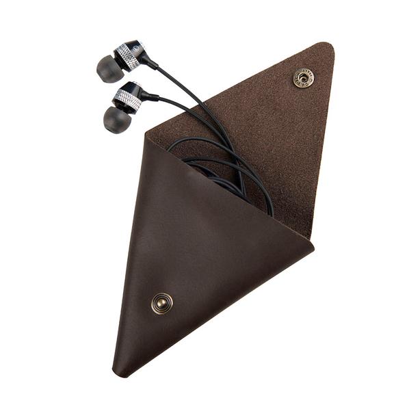 Набор подарочный Loft: портмоне и чехол для наушников, коричневый