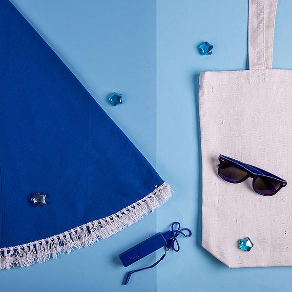 Набор подарочный Ocean Memory: плед пляжный, очки, зарядное устройство, сумка, чёрно-белый - фото № 1