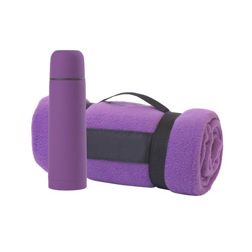 Набор подарочный Привал: плед, термостакан, фиолетовый - фото № 1