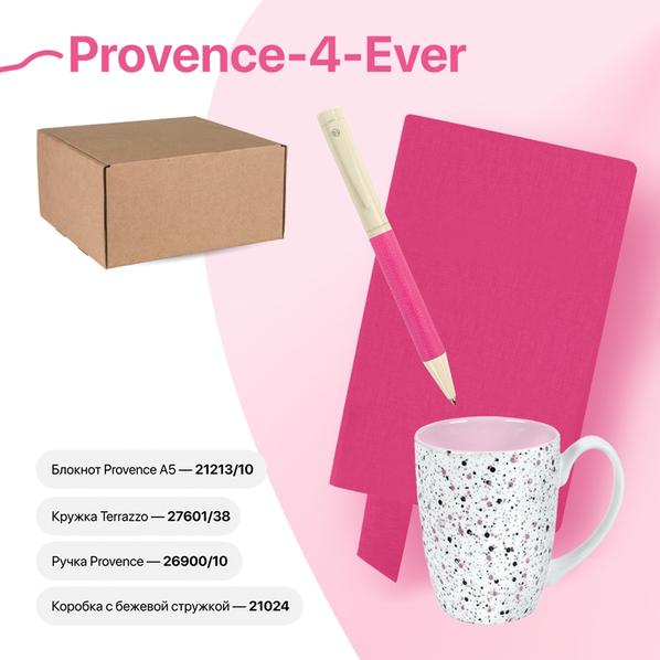 Набор подарочный Provence-4-ever: бизнес-блокнот, ручка, кружка, розовый - фото № 1