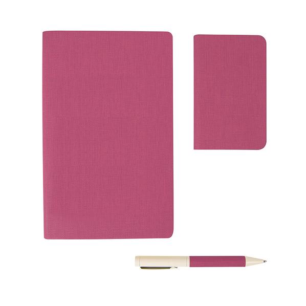 Набор подарочный Provence: универсальное зарядное устройство, блокнот, ручка, розовый - фото № 1