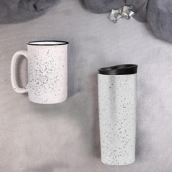Набор подарочный Starlight: термокружка, кружка, белый - фото № 1