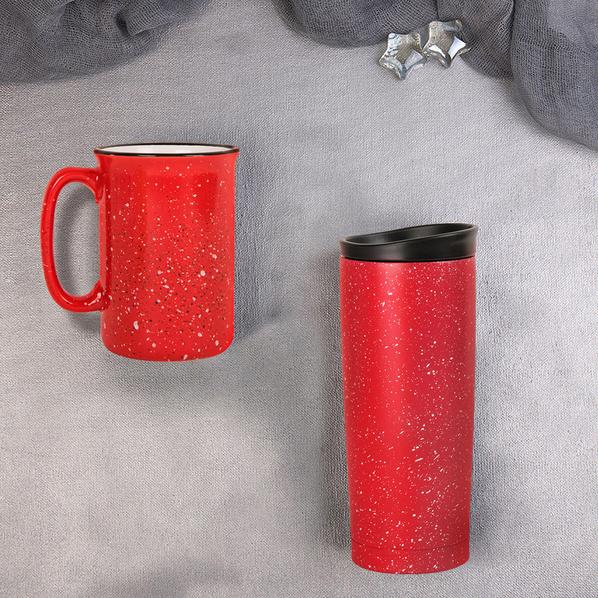 Набор подарочный Starlight: термокружка, кружка, красный - фото № 1