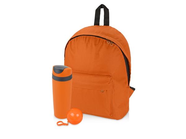 Набор подарочный Tetto: дождевик, рюкзак, термокружка, оранжевый - фото № 1