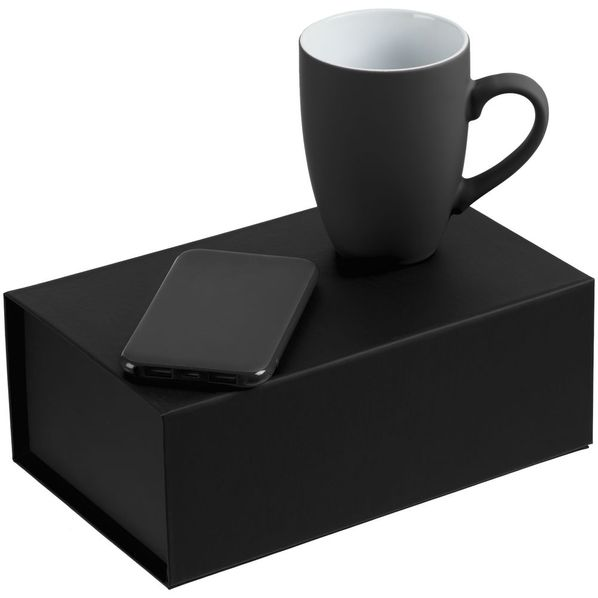 Набор Powerhouse: внешний аккумулятор Uniscend Half Day Compact 5000 mAh, кружка Best Morning c покрытием софт-тач, антрацит - фото № 1