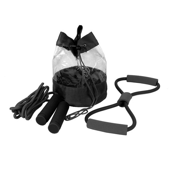 Набор Sport Up: сумка, эспандер, скакалка, чёрный - фото № 1