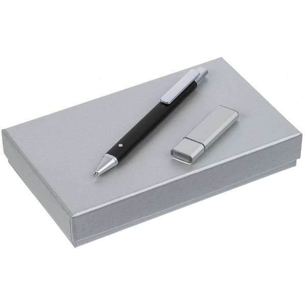 Набор Tabular: шариковая ручка, флешка на 16 Гб, чёрный - фото № 1