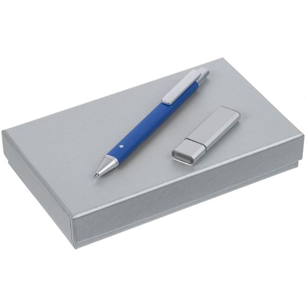 Набор Tabular: шариковая ручка, флешка на 16 Гб, синий - фото № 1