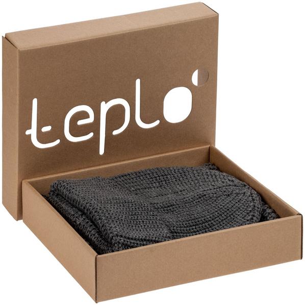 Набор Teplo Nordkyn: шапка, снуд, серый - фото № 1