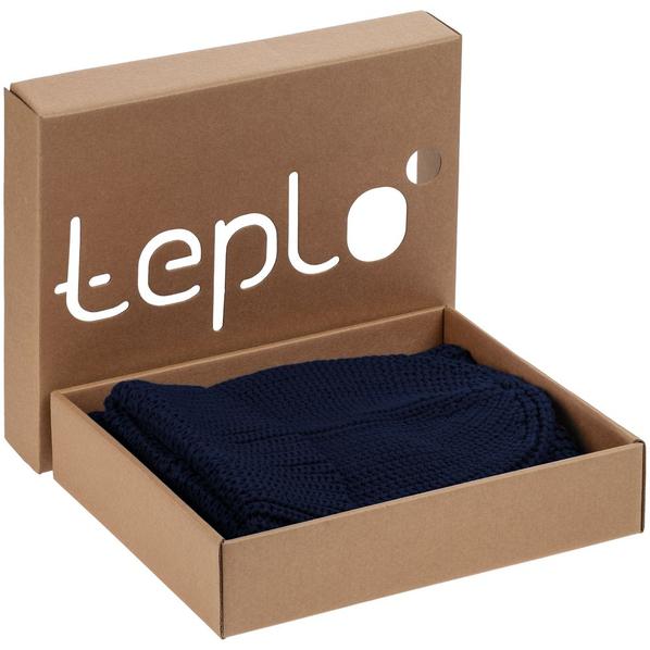 Набор Teplo Nordkyn: шапка, снуд, синий - фото № 1