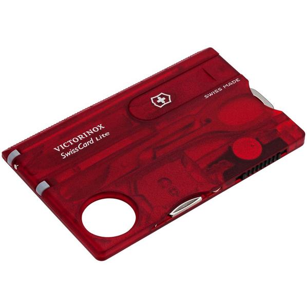 Набор инструментов SwissCard Lite, красный - фото № 1