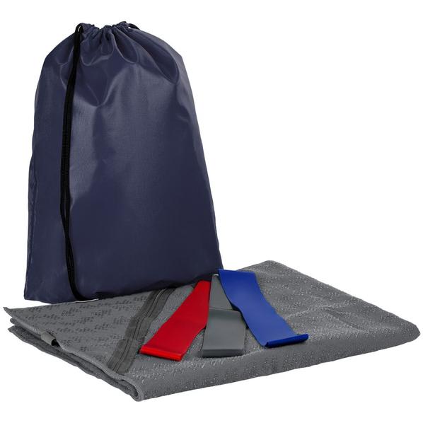 Набор Stride Zen Gym в рюкзаке: полотенце-коврик, эластичные ленты, серый - фото № 1