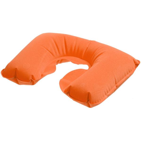 Надувная подушка под шею в чехле Sleep, оранжевая - фото № 1