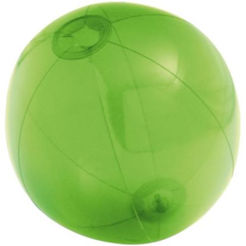 Надувной пляжный мяч Sun and Fun, полупрозрачный зеленый - фото № 1