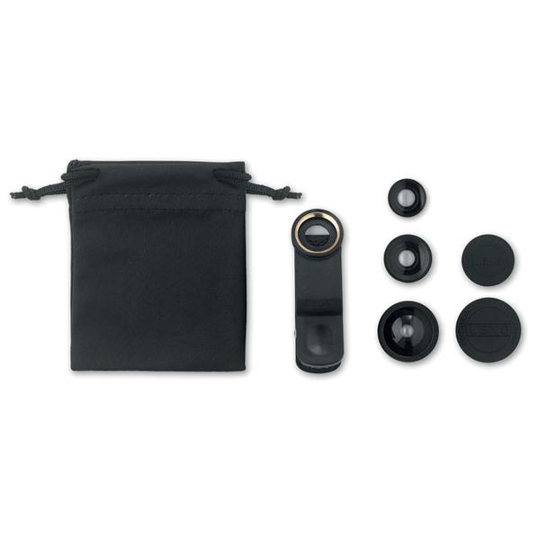 Набор объективов для смартфона, черные - фото № 1