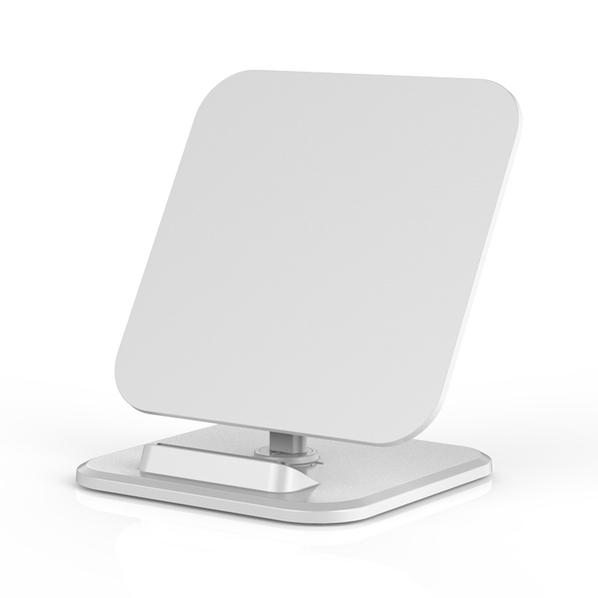 Зарядное устройство беспроводное / подставка для смартфона Powerfolio, белое - фото № 1