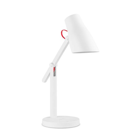 Настольный светильник с Беспроводной ЗУ Rombica LED L1, белый/красный - фото № 1