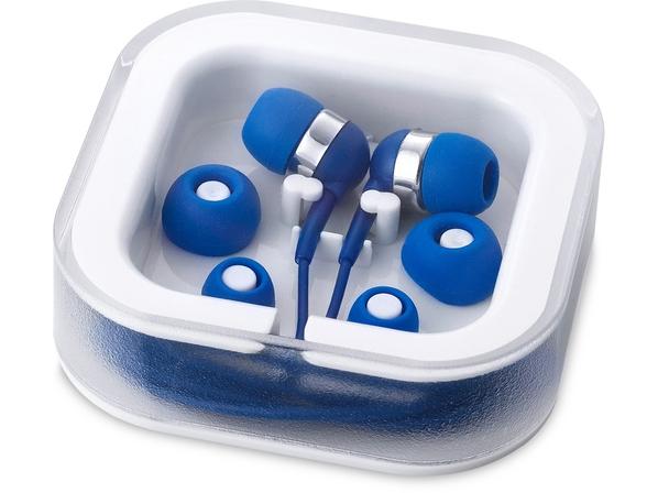 Наушники проводные внутриканальные, с микрофоном Sargas, синие - фото № 1