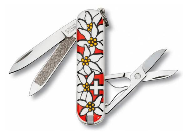 Нож перочинный Victorinox Classic Edelweiss, 58 мм, 7 функций, разноцветный - фото № 1
