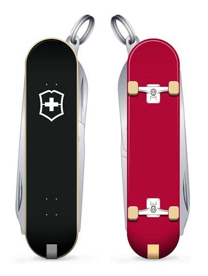 Нож перочинный Victorinox Classic LE2020 Skateboarding, 58 мм, 7 функций, красный/ черный - фото № 1