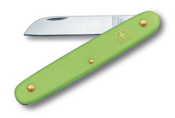 Нож Victorinox EcoLine Floral, салатовый, 1 функция, в картонной коробке