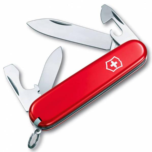Нож Victorinox Recruit, красный, 84 мм, 10 функций