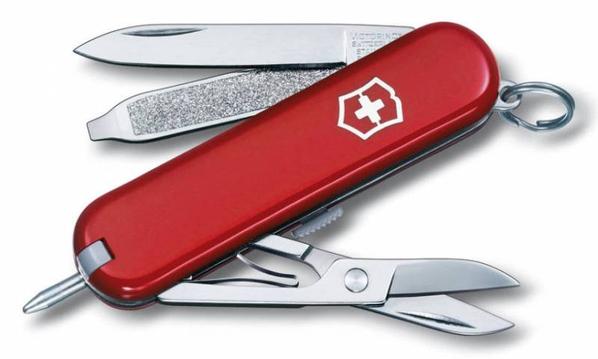 Нож Victorinox Signature, красный, 58 мм, 7 функций