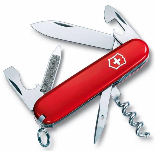 Нож Victorinox Sportsman, красный, 84 мм, 13 функций