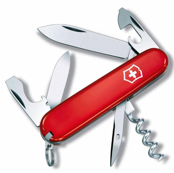 Нож Victorinox Tourist, красный, 84 мм, 12 функций