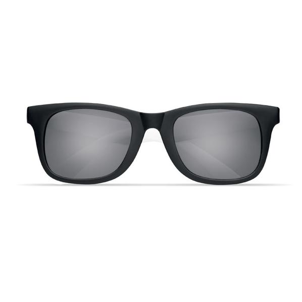 Очки солнечные с цветными дужками, черный/белый - фото № 1