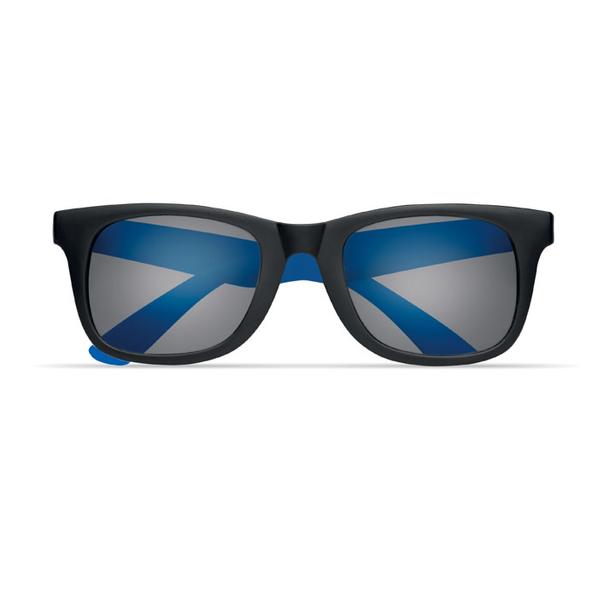 Очки солнечные с цветными дужками, черный/синий - фото № 1