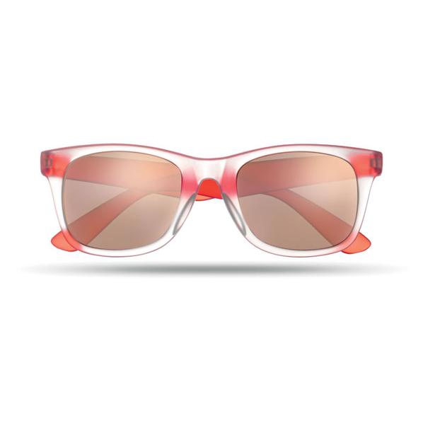 Очки солнцезащитные с зеркальным покрытием, UV400, красный - фото № 1