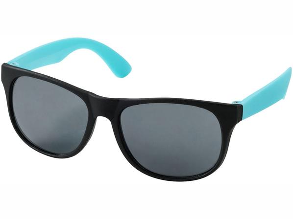 Очки солнцезащитные Retro, УФ 400, черный/бирюзовый - фото № 1