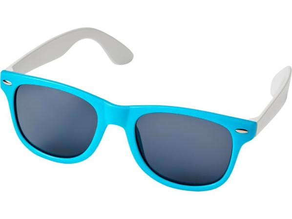 Очки солнцезащитные Sun Ray в стиле ретро, бирюзовые - фото № 1