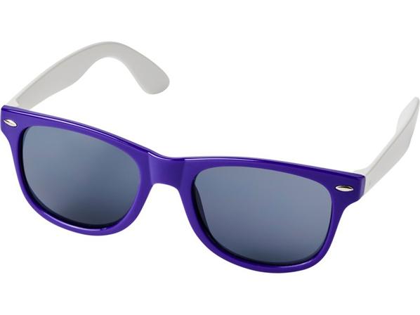 Очки солнцезащитные Sun Ray в стиле ретро, фиолетовые - фото № 1