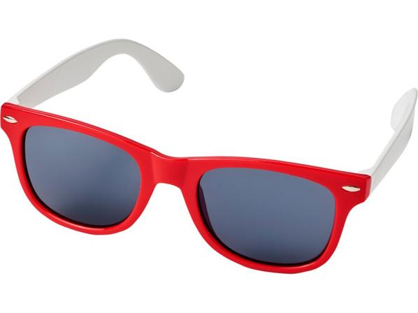 Очки солнцезащитные Sun Ray в стиле ретро, красные - фото № 1