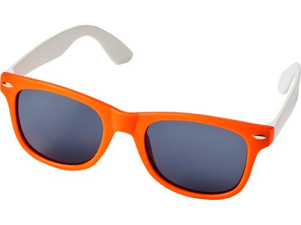 Очки солнцезащитные Sun Ray в стиле ретро, оранжевые - фото № 1