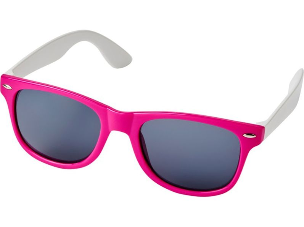 Очки солнцезащитные Sun Ray в стиле ретро, розовые - фото № 1