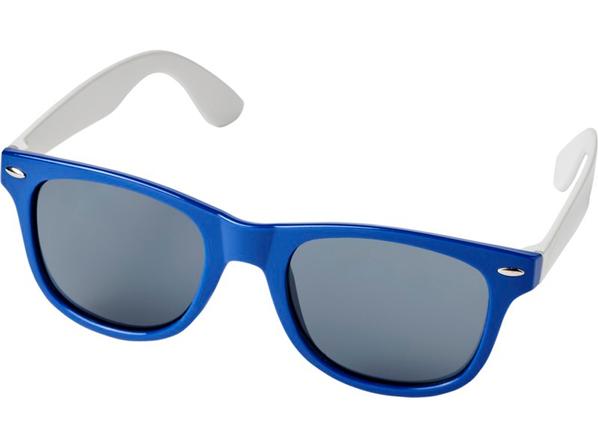 Очки солнцезащитные Sun Ray в стиле ретро, синие  - фото № 1